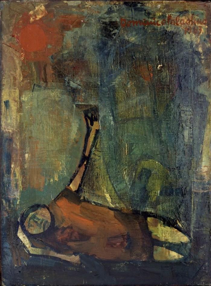 Mimmo Paladino, Il saluto del greco, 1963, olio su tela, 40x30 cm, Collezione Salvatore Paladino, Napoli Foto Peppe Avallone