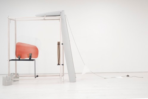 Nairy Baghramian, Drawing Table (Homage to Jane Bowles), 2017, various materials, EMST—National Museum of Contemporary Art, Athens, documenta 14 Photo Mathias Völzke