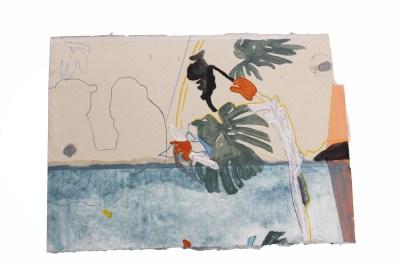 Federica Giulianini, 1964, tecnica mista su carta, cm. 25x36