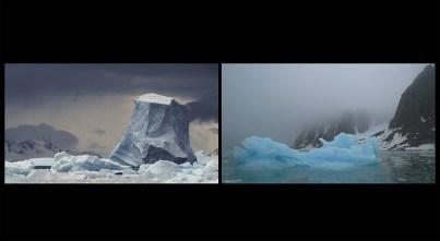 Aqua Aura, Millennial Tears, 2017, video-installazione Full HD a 2 canali, colore, audio, durata 40', dimensione complessiva, 160x540 cm (frame da video-proiezione). Courtesy: l'artista