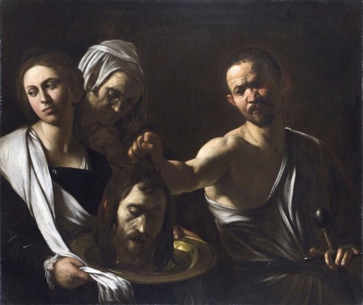 Michelangelo Merisi da Caravaggio, Salomé con la testa del Battista, 1607 o 1610, olio su tela, 91.5x106.7 cm National Gallery, Londra © The National Gallery, London 2017. Bought, 1970