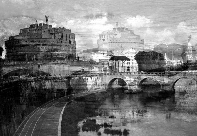 DAVIDE BRAMANTE, Roma, (Castel S.Angelo) 2016, esposizione multipla non digitale, esemplari 5.