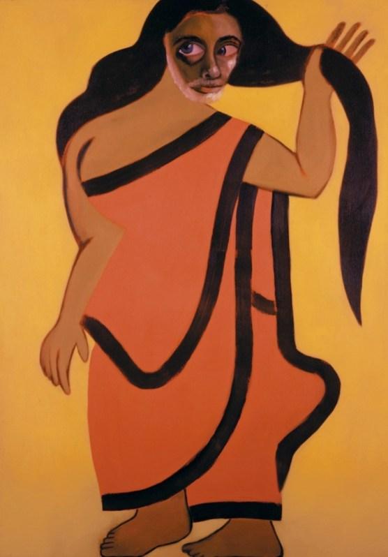 Francesco Clemente, Autoritratto come donna bengalese, 2005, olio su lino Courtesy Francesco Clemente