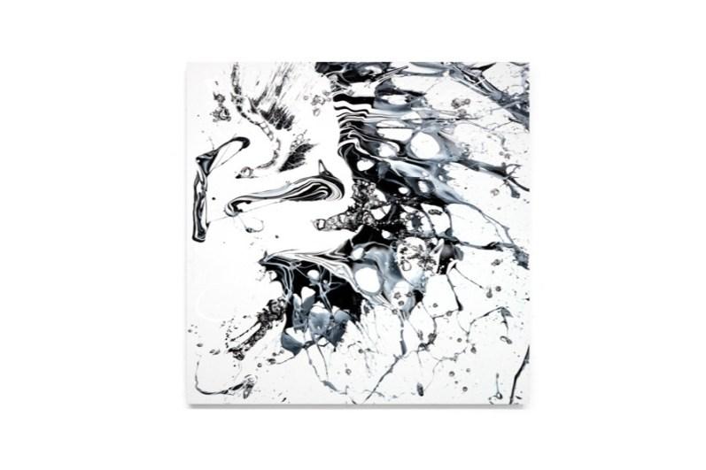 Katrin Fridriks, Magic Interstellar Spaces, 2017, acrilico su tela, 150x150 cm Courtesy Dellupi Arte, Milano
