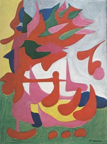 Giulio Turcato, Yma Sumac (La cantante brasiliana), 1952 circa, olio su tela, 80x60 cm, Collezione privata, Roma