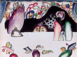 Wassily Kandinsky, Acquarello per Violett (Tavola II), 1914, grafite, inchiostro di china e acquarello su carta, 25.1x33.3 cm, Centre Pompidou, Musée National d'Art Moderne - Centre de Création Industrielle, Parigi © Centre Pompidou, MNAM-CCI, Dist. RMN - Grand Palais / Philippe Migeat