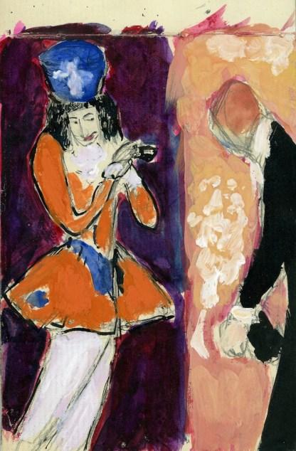 Marianne Werefkin, Libretto di schizzi, s.d. tecnica mista, 12.5x18 cm Fondazione Marianne Werefkin Museo Comunale d'Arte Moderna, Ascona