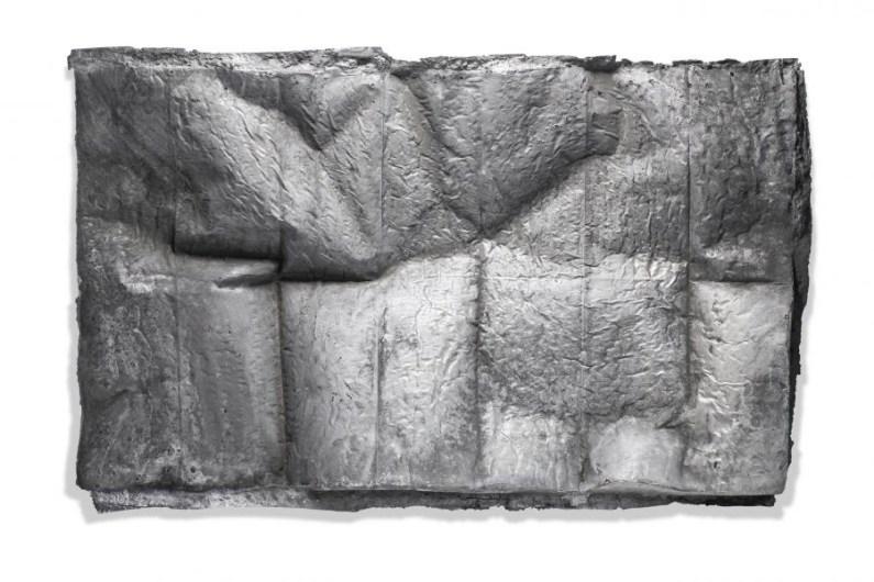 Elia Cantori, Untitled (1:1 Map), 2016, alluminio, 55x90 cm