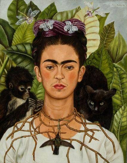Frida Kahlo, Autoritratto, 1940, olio su alluminio, 63,5 x 49,5 cm © Banco de México Diego Rivera Frida Kahlo Museums Trust, México, D.F. by SIAE 2018