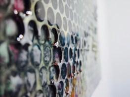 Gianluca Patti, Noise 3, 2017 (dettaglio), acrilico e resina su tela, 30x30 cm (dalla serie Frequencies)