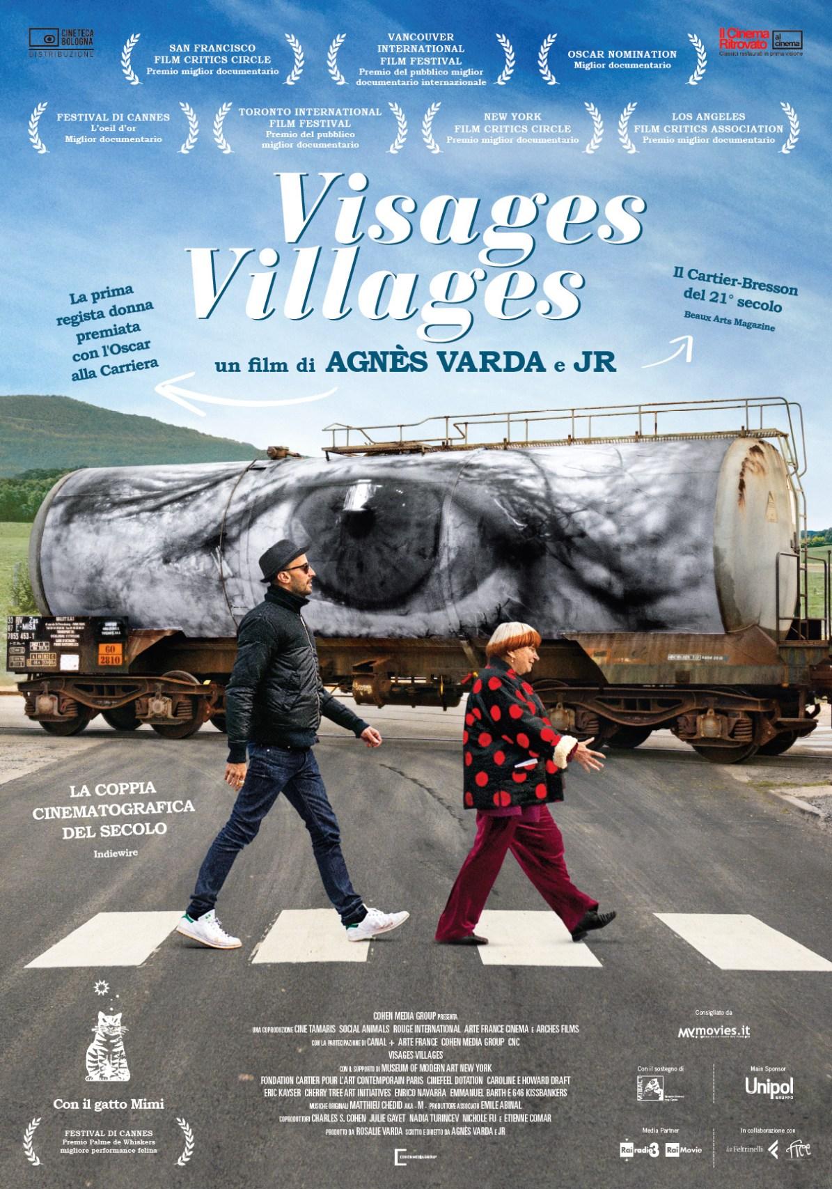 Visages, Villages un film di Agnès Varda e JR, locandina