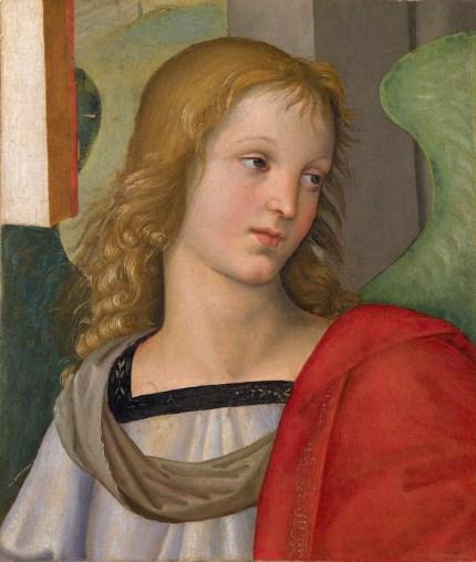 Raffaello Sanzio, Angelo, 1501, olio su tavola (trasportato su tela), cm 31x26.5, Brescia, Pinacoteca Tosio Martinengo © Fondazione Brescia Musei