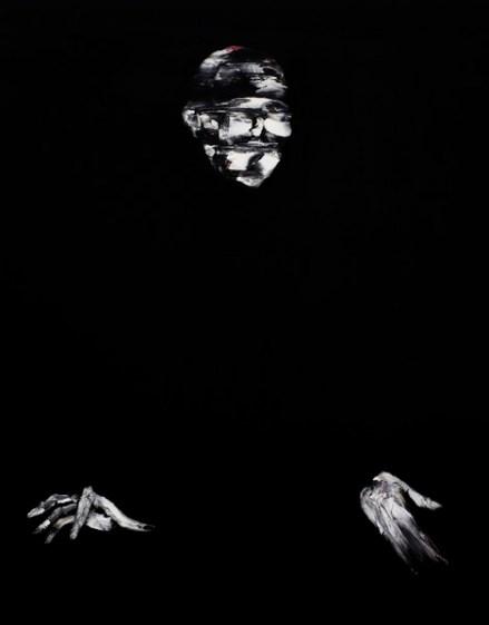 Lorenzo Puglisi, Il Grande sacrificio, 2018, olio su tavola, 175x395 cm, particolare #2