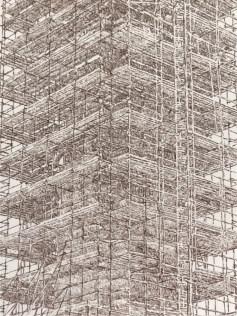 Elisabeth Scherffig, Senza Titolo, 2017, pastello su carta Arches, 90x70 cm