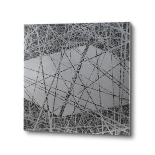 Nadia Galbiati, Tema 5, 2015, ferro con disegno acidato a morsura, 90x90x4 cm