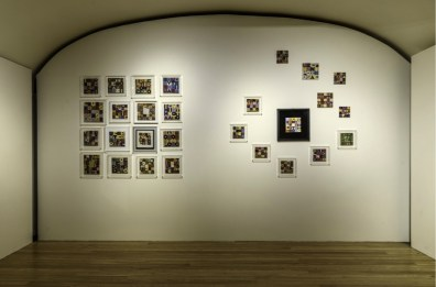 Alighiero Boetti. Perfiloepersegno, veduta della mostra (Ricami su tessuto, 1973-1993), Museo Civico Palazzo Mazzetti, Asti Foto Enzo Bruno