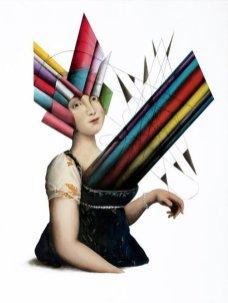 Simone-Berti_carolina murat_ 2017-tecnica-mista-su-tela-cm-80-x-60