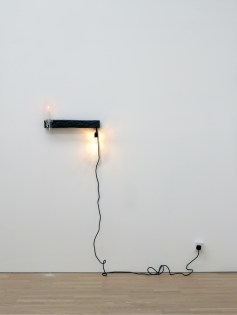 Anders Ruhwald, Candle/Light, 2008, ceramic and mixed media, 8x57x10 cm