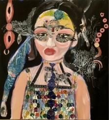 Silvia Argiolas, Marianna Lady Boy, 2018, tecnica mista su tela, 50x46 cm