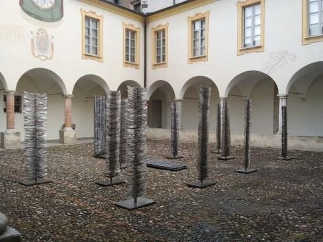 Franca Ghitti scultrice, veduta dell'allestimento (Alberi), Museo d'arte Mendrisio, Mendrisio (Svizzera)