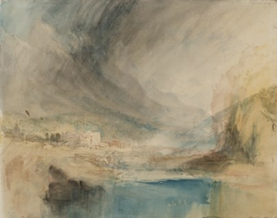 © J. M. W. Turner, Storm over the Mountains, c.1842-3, graphite, watercolor and pen and ink on paper, Tate: Accepted by the nation as part of the Turner Bequest 1856