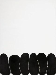 Gary Kuehn, Black Painting, 1971, acrilico su tela, 248.9x182.9 cm Courtesy Häusler Contemporary München | Zürich Foto: Patrick Cipriani