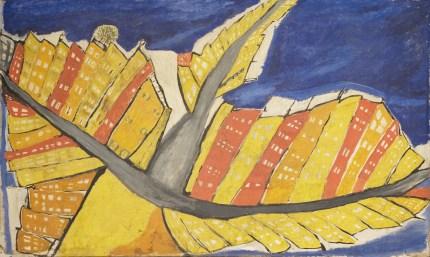 Osvaldo Licini, (La città che sale) (1914), olio su tela, cm 80x120 © Fondazione Massimo e Sonia Cirulli