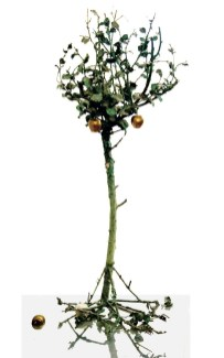 Alik Cavaliere, Mezzo albero con mele, 1971, bronzo, cm 200x98x58