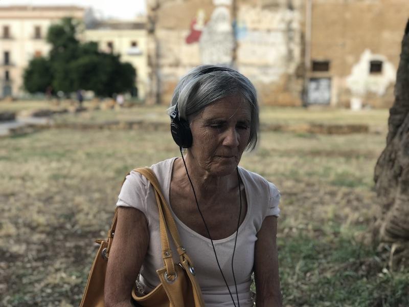 Ottonella Mocellin - Nicola Pellegrini, Blind Walk, 2018, audio walk (ascolto), Manifesta 12, Palermo Courtesy Ottonella Mocellin - Nicola Pellegrini