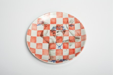 Allison Katz, Fairy Ceramic, 2017, ceramic plate