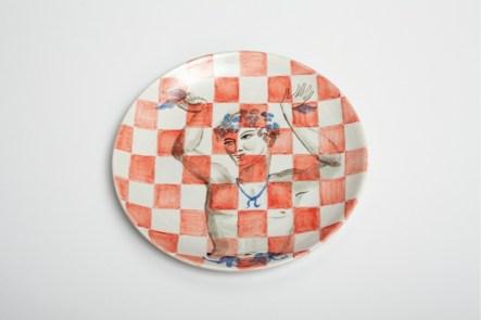 Allison Katz, Fairy Ceramic, 2017, ceramic plate