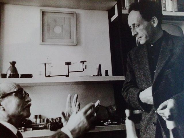Leoncillo e Fontana incontro a Milano nel 1960