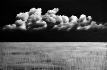Ernesto Morales, Clouds VIII, 2018, oil on canvas, cm 100x150 Courtesy l'artista e Area35 Art Gallery, Milano