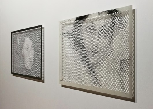 Armida Gandini, Coordinate: Dora, 2018, stampe digitali intagliate, 1° cm 40x50, 2° cm 40x54, 3° cm 65x45