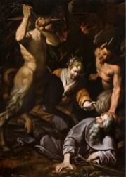 Camillo Procaccini (1551-1629), Le tentazioni di S. Antonio Abate, 1590-1595, opera notificata, 255x190 cm (Galleria Le Due Torri, Noceto)