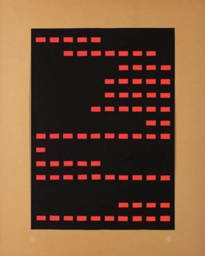 Gianfranco Chiavacci, Elaborato binario, 1964 Courtesy Archivio Gianfranco Chiavacci e Die Mauer - Arte Contemporanea, Prato