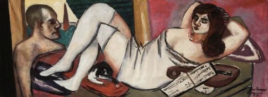 Max Beckmann, Siesta, 1924-34, olio su tela, 35x95 cm, Collezione privata © 2018, ProLitteris, Zurich