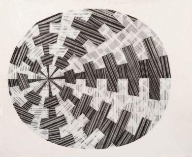 Ciro Rispoli, Senza titolo, 2015, carta su tela, Photo Cristian Ciampocero