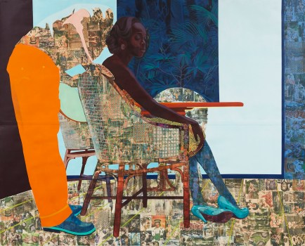 Njideka Akunyili Crosby, And We Begin To Let Go, 2013