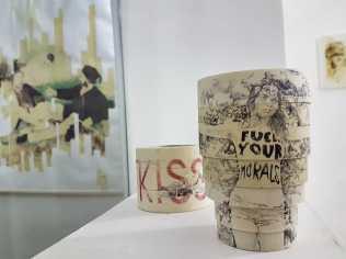 Veduta della mostra Fumatto.Re-Tape, Prisma Studio Genova. Foto: Viktorija Gedraityte