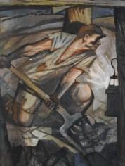 Vilém Wünsche, senza titolo, 1948, olio e tempera su cartone