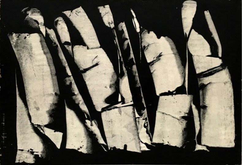 Roman Opalka, Fonemat V, 1964, tempera su carta montata su legno, cm 70x100x3.5. Photo credits: André Morin