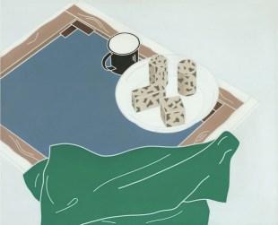 Emilio Tadini, Natura morta Maggio, 1970, acrilici su tela, 81x100 cm, Collezione privata, Courtesy Fondazione Marconi, Milano