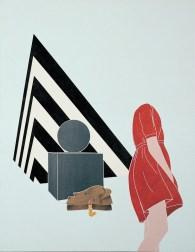 Emilio Tadini, Viaggio in Italia, 1971, acrilici su tela, 146x114 cm, Collezione privata, Courtesy Fondazione Marconi, Milano