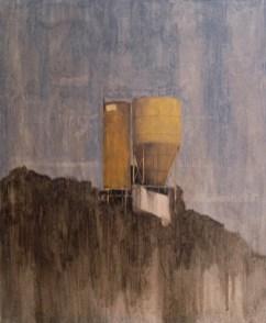 Matteo Ciardini, Archeologia industriale, 2019, olio su carta montata su tela, 60x50 cm - Courtesy Paola Raffo Arte Contemporanea