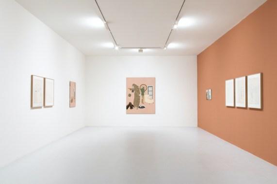Emilio Tadini 1967-1972. Davanti agli occhi, dietro lo sguardo, veduta della mostra, Fondazione Marconi, Milano Foto Fabio Mantegna