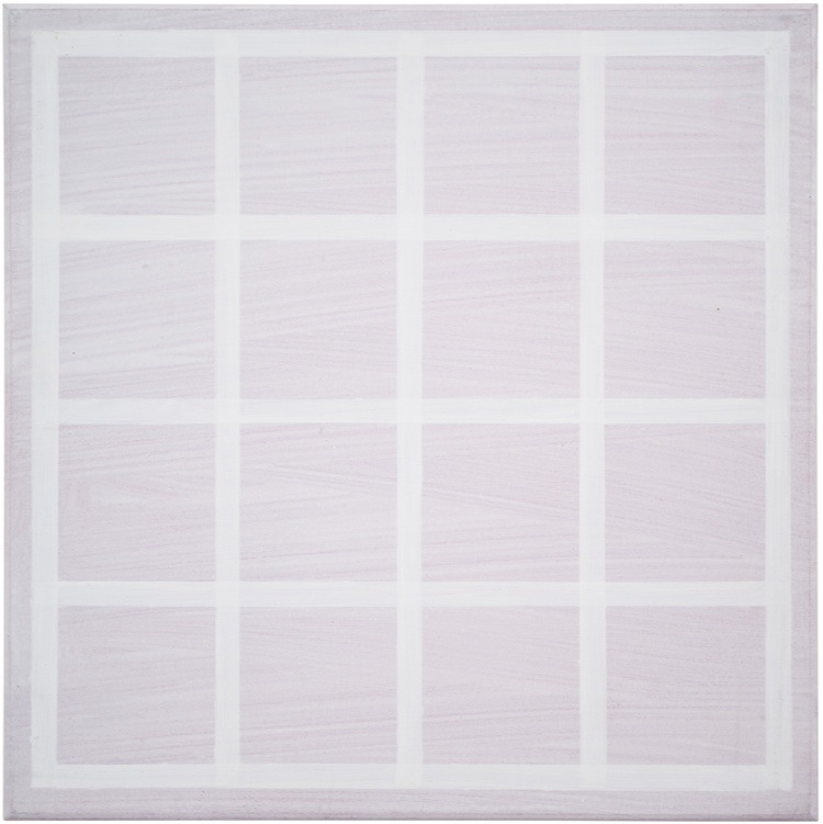 Tomas Rajlich, Untitled, 1970, 40x40 cm, acrilico su tavola