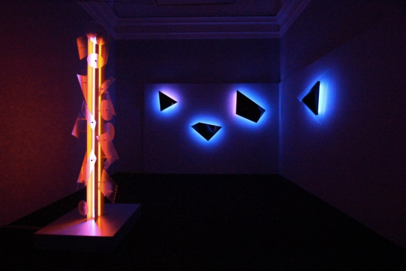 Nanda Vigo, Palazzo Reale, Milano, 2019, opere: Neverended light e Galactica sky Photo Credit Marco Poma Courtesy Archivio Nanda Vigo