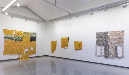 Serge Attukwei Clottey. Sometime in your life, veduta della mostra, Lorenzelli Arte, Milano Courtesy l'artista e Lorenzelli Arte, Milano