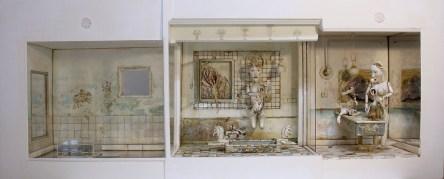 Saba Masoumian, Lotus, 2019, tecnica mista e polimeri espansi su legno, 135x55x29 cm Courtesy Saba Masoumian e Villa Contemporanea, Monza